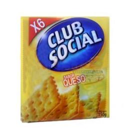 Galletas saladas Club Social  queso   6 und