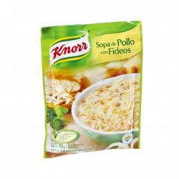 Soupe instantanée poulet avec nouilles Knorr 64g