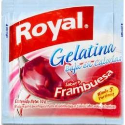 Gelatine Royal peu de calories - franbuesa 10g