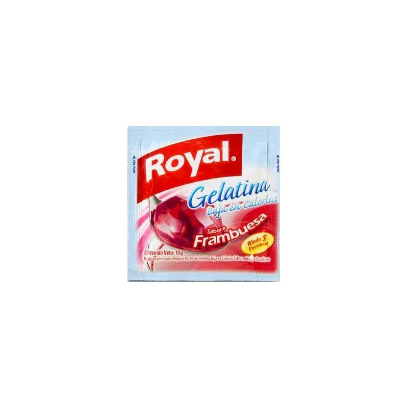Gelatina Royal baja en calorías - sabor frambuesa 10g