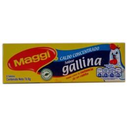 Maggi caldo concentrado sabor gallina 8 tabletas 76.8g
