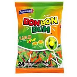 Bon Bon Bum Lulo Sour - Bolsa 24 unidades 480g