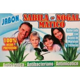 Savon Anti-bácterien Sabilla, Nogal y Mático 200g