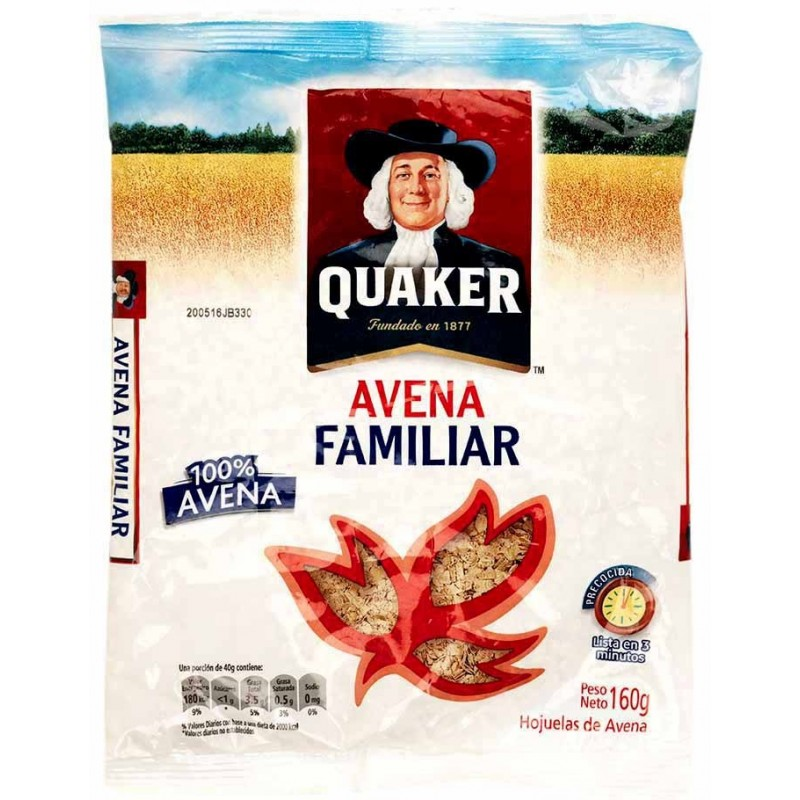Bolsa de Avena de Quaker 160g