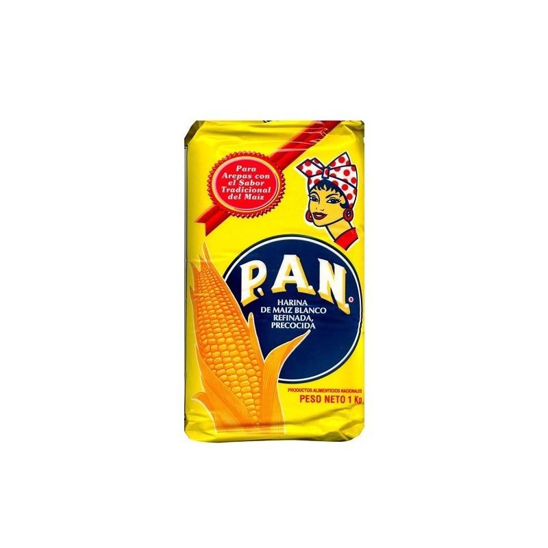 harina Pan de Maiz  blanca NO OGM 1 kilo