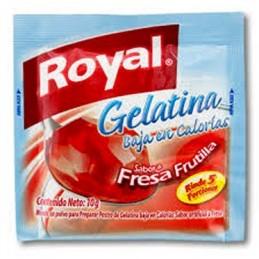 Gelatine Royal peu de calories - fraise frutilla 10g