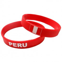 Bracalete Perú en plástico - Una Unidad