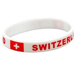 Bracelet en silicone Suisse une pièce