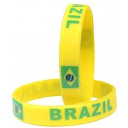 Bracelet en silicone Brésil une pièce