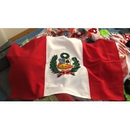 Bandera peruana Calidad superior, doble cara 1mx60cm