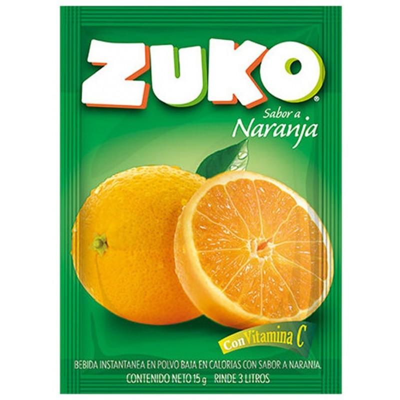 Bebida instantánea en polvo ZUKO Naranja sobre 15g