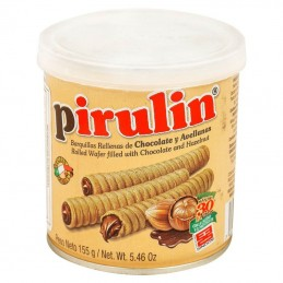 Barquillo Chocolate y Avellana Pirulin 155g
