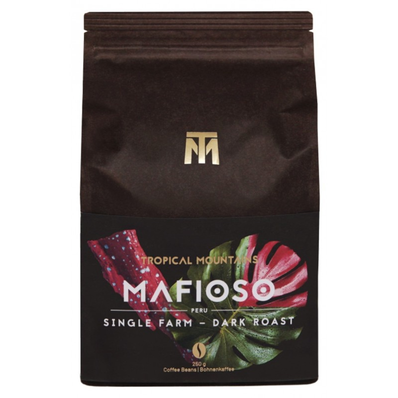 MAFIOSO CAFE EN GRANOS ORGANIC FAIR TRADE Dark roast, 100% Arabica, Peru Single Farm, Bio Fair Trade