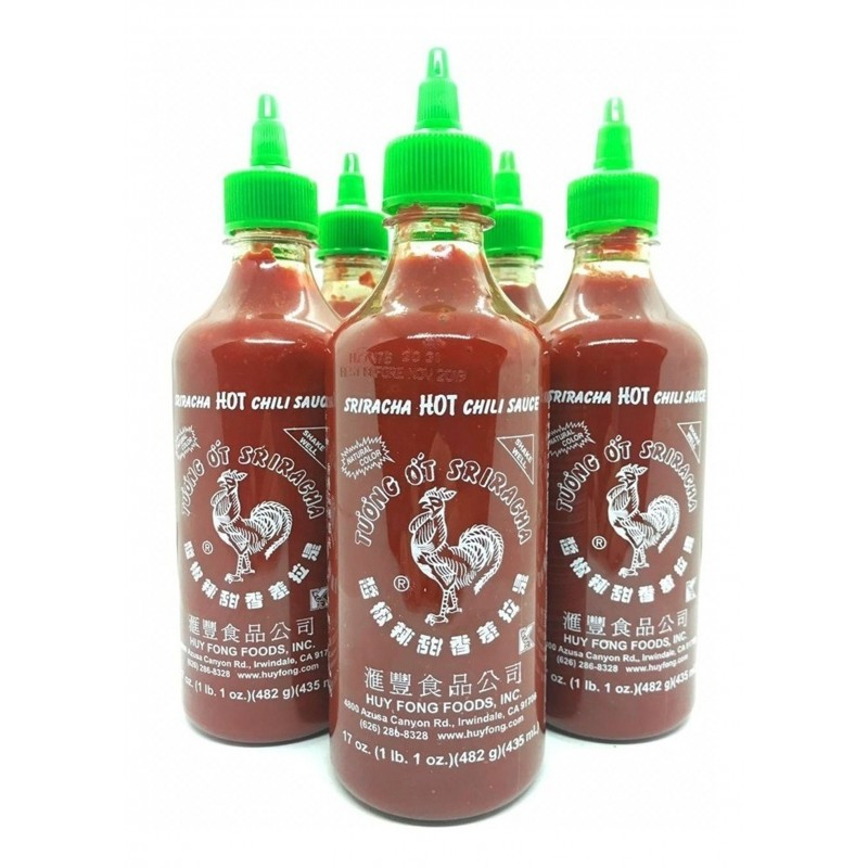 Salsa muy picante Sriracha Hot Chilli Sauce ( Scoville puntúa 2.000) 481g