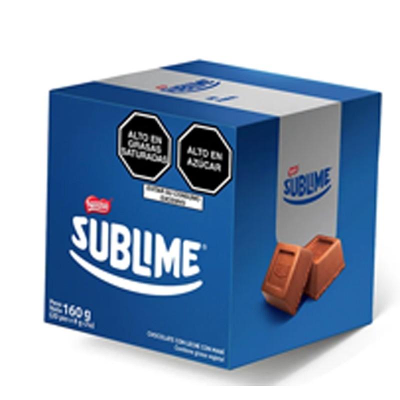 Chocolate NESTLÉ SUBLIME SPECIAL BOX Relleno con maní Caja 20Un