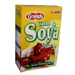 Carne de soya tipo res marca Govinda 0% colesterol  165gr