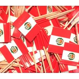 Drapeaux cure-dent - Pérou 8pc
