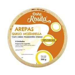 AREPAS CON QUESO MOZZARELLA...
