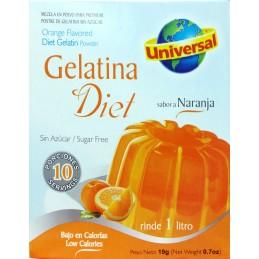 "Gelatina de naranja  DIET  ""Universal"" 19gr"