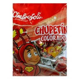 chupetes Chapulin Colorado Chupete con sabor a fresa 25 unidades