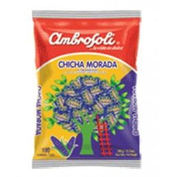 Caramelos de chicha morada Ambrosoli 100und