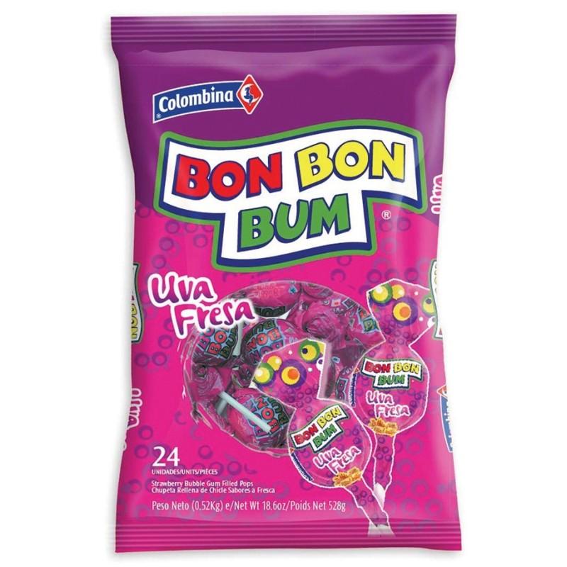 Bon Bon Bum Uva - Bolsa 24 unidades
