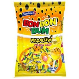 Sucettes Bon Bon Bum Fruit de la Passion - sachet 24 pc