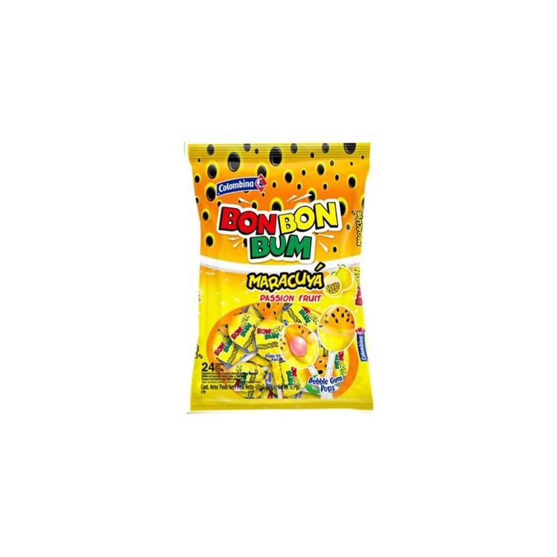 Bon Bon Bum Maracuya- Bolsa 24 unidades