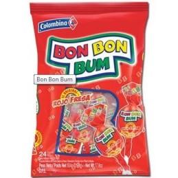 Bon Bon Bum Fresa - Bolsa 24 unidades