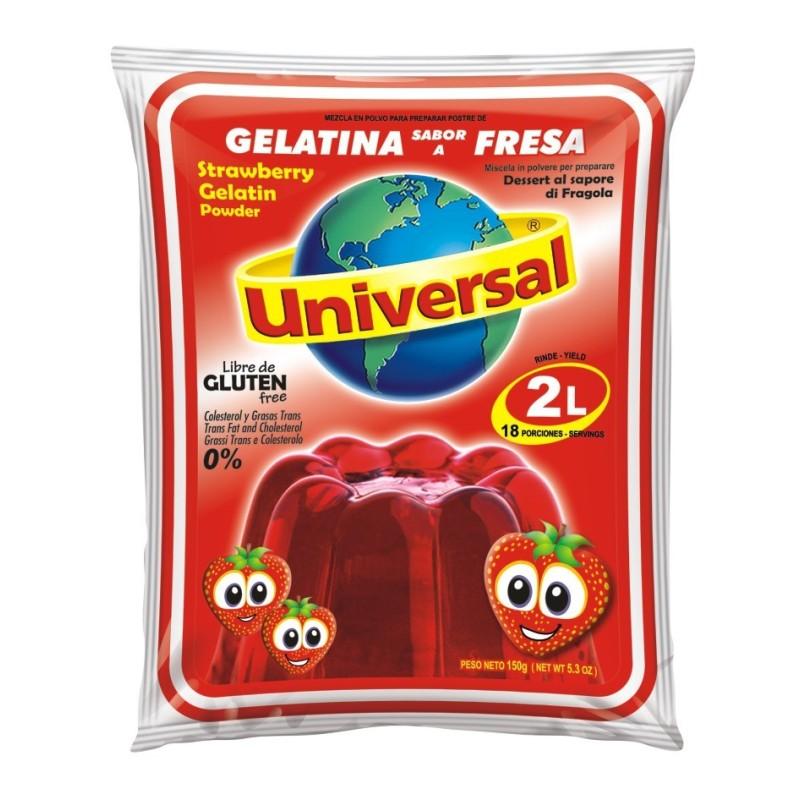 "Gelatina de fresa ""Universal""  - Tamaño Familiar    250gr"
