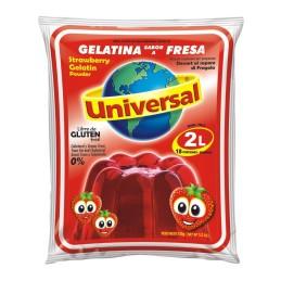 "Gelatina de fresa ""Universal""  Tamaño Familiar 250gr"